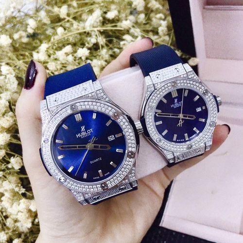 đồng hồ Hublot dây da xanh giá rẻ