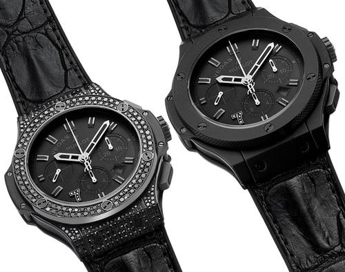 đồng hồ Hublot đen sang trọng
