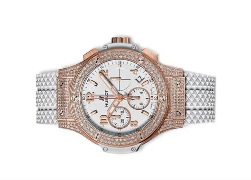 Hublot Big Bang Gold White Diamonds Chronograph dành cho phái đẹp