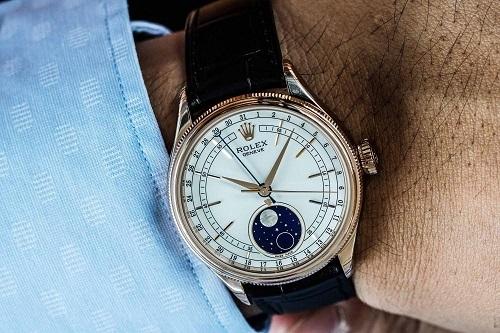 Vẻ đẹp hấp dẫn của đồng hồ Rolex Cellini Moonphase