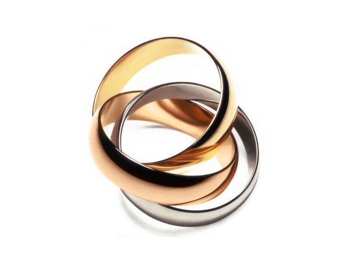 Mẫu nhẫn cartier 3 màu chuẩn sang trọng đẳng cấp