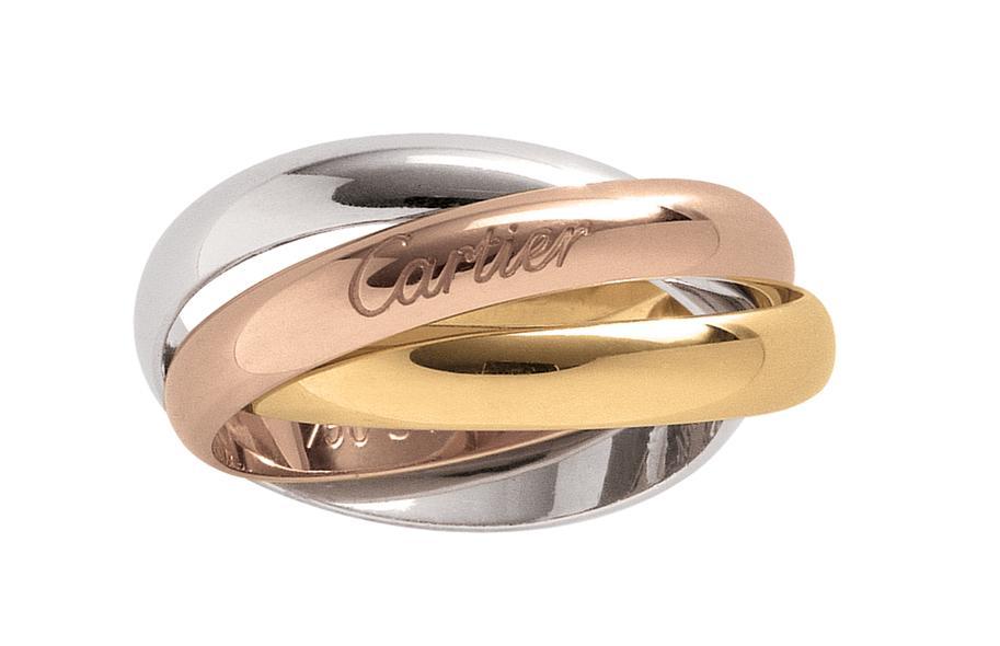 Mẫu nhẫn cartier 3 màu chuẩn sang trọng đẳng cấp-1