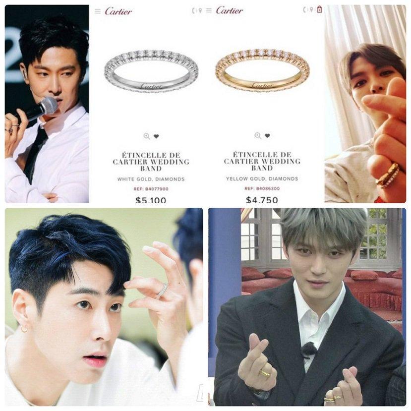 Nhẫn đôi cartier yunjae biểu tượng cho sự hoàn mỹ