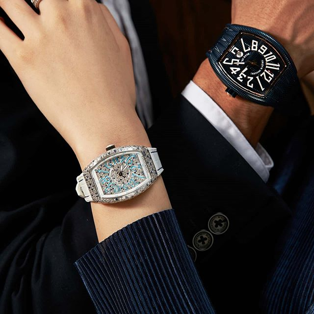 Những mẫu đồng hồ franck muller full đá dành cho những cặp đôi