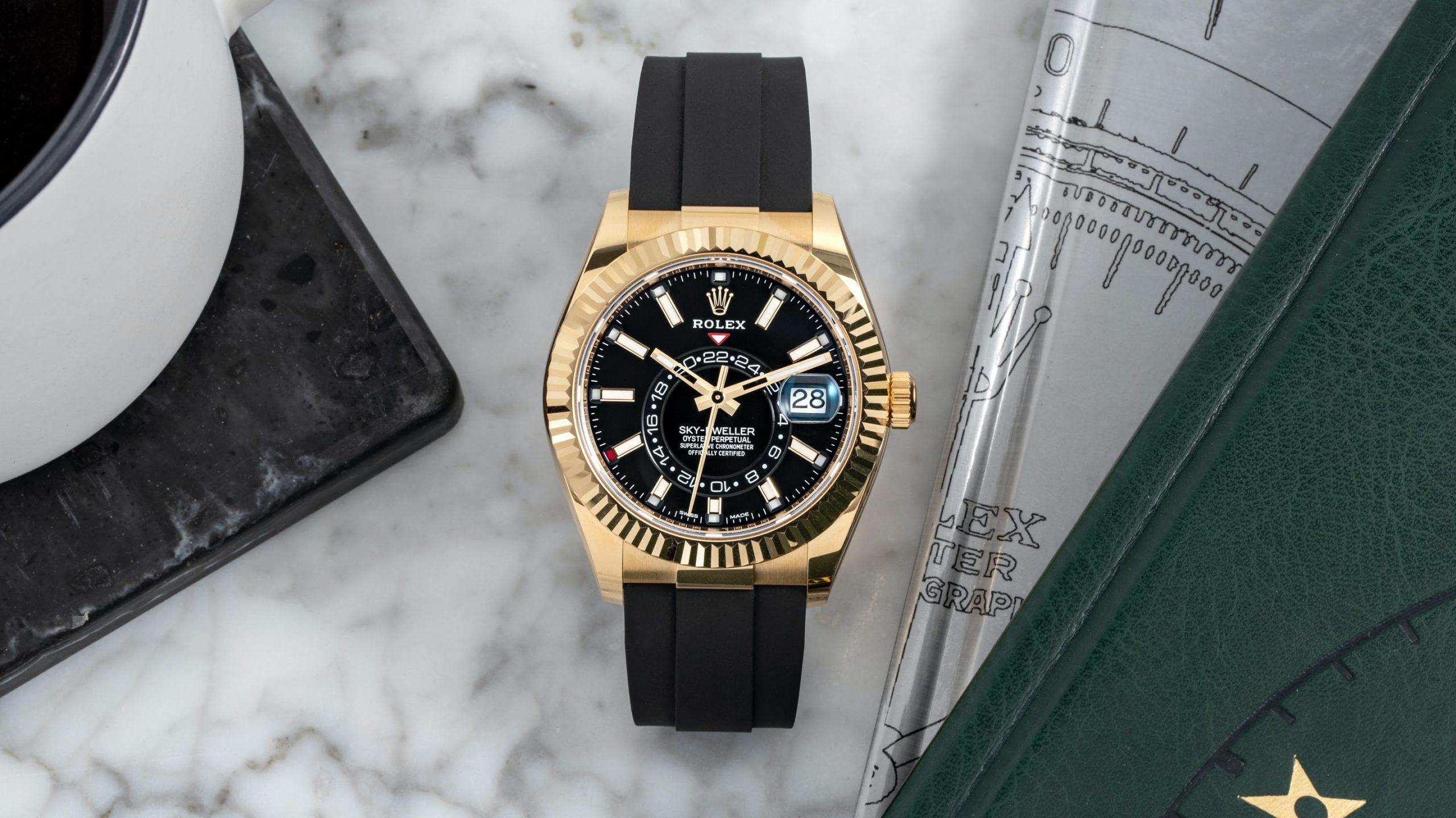 Ngắm nhìn chiếc đồng hồ Rolex Sky – Dweller 2020 với dây đeo Oysterflex