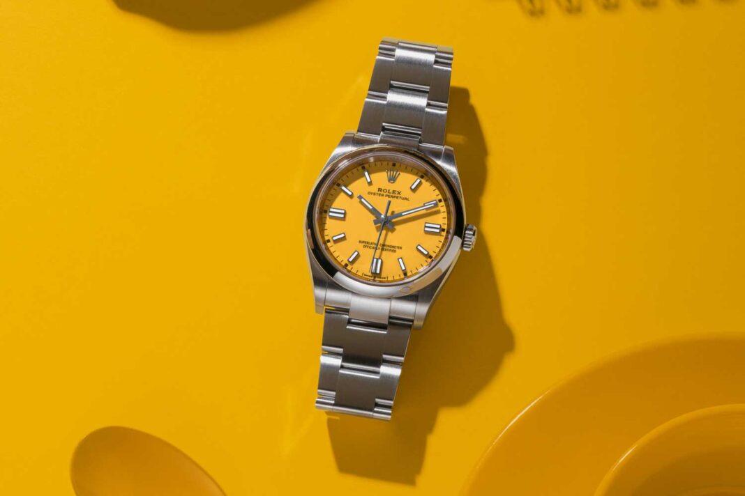 Đồng hồ Rolex Oyster Perpetual 36 – Màu vàng của sự hạnh phúc