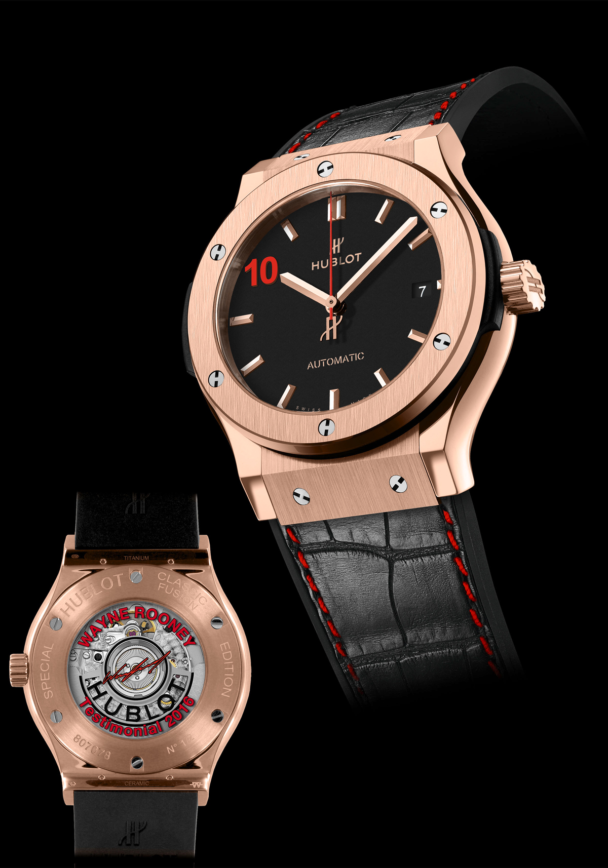 Ý nghĩa của đồng hồ Hublot Classic Fusion Special Edition 'Wayne Rooney'