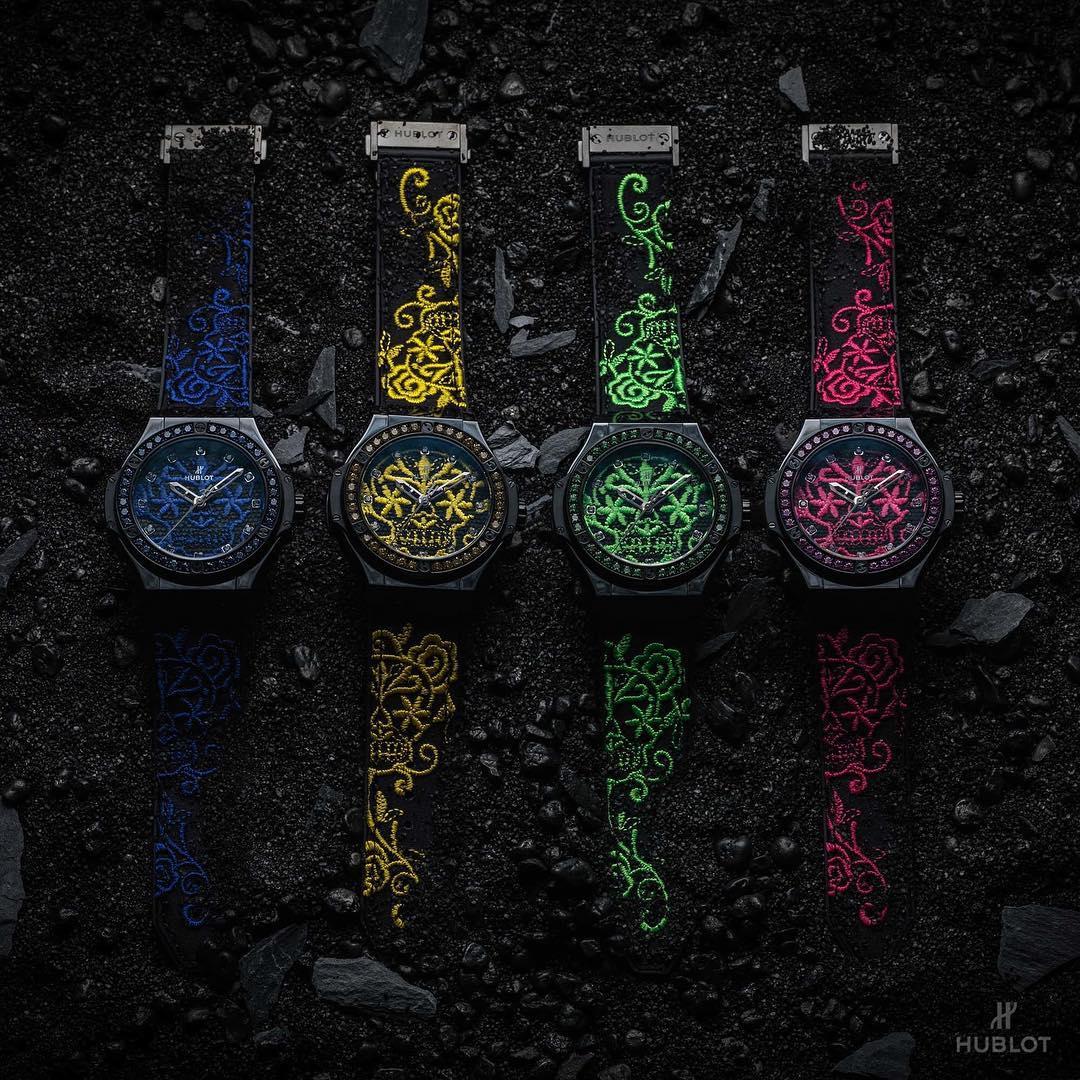 Đồng hồ Hublot Big Bang 41MM Broderie Sugar Skull với họa tiết thêu tinh xảo