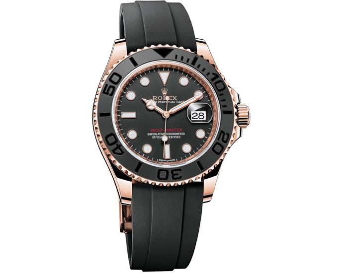 """Phiên bản đồng hồ Rolex Yacht-Master """"Everose"""" với vòng tay Oysterflex"""